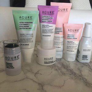 Acure Skin Care Beauty Bundle Lot